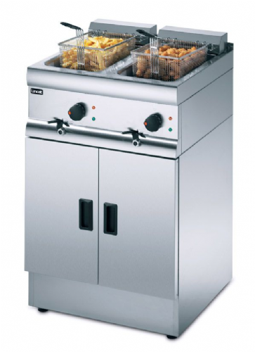 Lincat Silverlink 600 J12 Electric 2 x 6 Kw Twin Pedestal Fryer